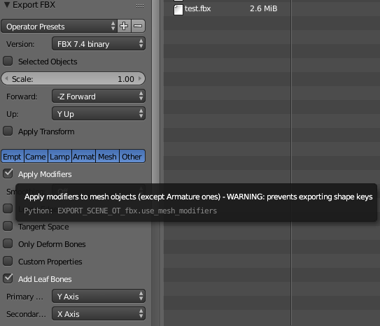 Quick hint / to remember – how to export BlendShapes from Blender to